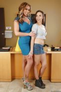 Delicious lesbo action between MILF Eva Notty and teen Lily Love