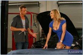 Adorable MILF with big tits Tanya Tate gets her pussy fucked hardcore