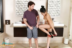 Sensual Asian woman Jayden Lee loves playing with hard, wet penis
