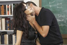 Busty teacher in glasses Diana Prince gets her cunt slammed by a big dick