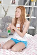Naughty teenage sweeties have some pillow fight fun turning into lesbian sex