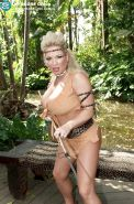 Busty amazon babe Rachel Love gets stuffed with two cocks in the jungle