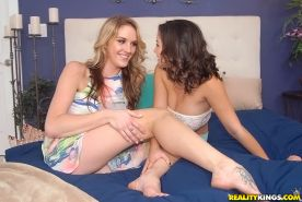 Amazing lesbians Shae Summers and Brianna Oshea sharing an orgasm