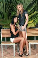 Outdoor lesbian sex with brunette babe Natalia Forrest and Ashley Bulgari