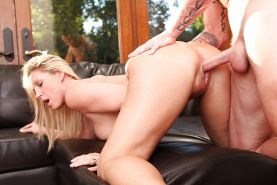 Devon Lee fucks a hard cock and gets her honey pot glazed with jizz
