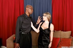 Velicity Von gets her asshole drilled hardcore by a big black cock