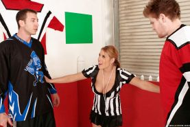 Lusty Charisma Cappelli with big tits takes off her uniform for a fuck