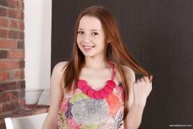 European teen solo girl Olivia Grace pisses her pantyhose before undressing