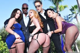 Lascivious anal sluts have some group fun with well-hung guys