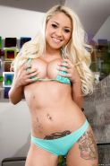 Diamond chick Marsha May is demonstrating her cute big boobies