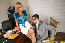 Reality office fuck with slutty latina in lacey stockings Bridgette B