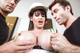 Top-heavy european MILF Eva Karera has some double penetration fun