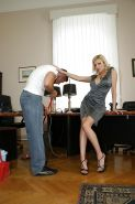 Sex-hungry office lady Donna Bell seduces a janitor and gets shagged hard