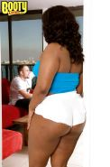 Fat black chick Keita Eden denudes her big ass and pleasing long meaty shaft