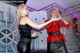 Filthy gals getting wet and having some lesbian fun at the wild party