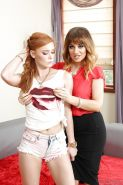 Beautiful lesbians Alex Tanner and Jessica Ryan getting naked together