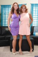 Janet Mason and sexy Tara Holiday are two slender naked mommies!