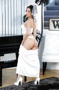 Asian MILF Vicki Chase strips off wedding dress to reveal big breasts