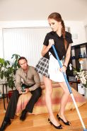 Hardcore slut Silvie Deluxe in skirt gets cum in mouth in reality seduction
