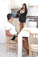 Hot Jasmine Black and her naughty friend banging in the kitchen