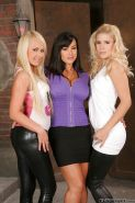 Gorgeous mature vixen has a lesbian threesome with her younger friends