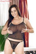 Euro MILF Linsey Dawn McKenzie unleashing massive juggs before masturbating