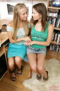 Young lesbian cuties prefer sexy anal toying to doing homework