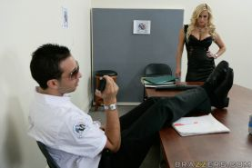 Busty MILF Shyla Stylez has her ass and pussy fucked in the office