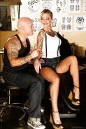 Busty chick Kleio Valentien interrupts tattoo session for hardcore fucking
