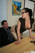 Big titted babe Tory Lane in glasses has hardcore anal sex
