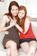 Perky lesbian sluts undressing and licking each other's sweet holes