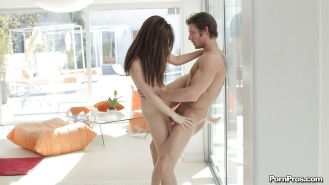 Hardcore ass fuck of an skinny babe with a tight pussy Lily Carter