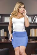 Schoolgirl with big tits Destiny Dixon poses in the office so sexy