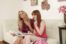 Threesome sex features a teen girl Julia Ann and mature Marie McCray