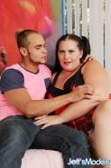 Raunchy brunette BBW Becki likes being pounded with a long shaft