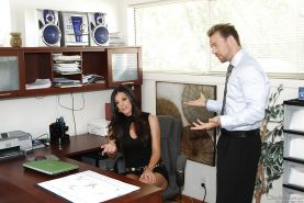 Gorgeous MILF India Summer gets her cunt licked and fucked in the office