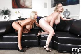Lesbian pornstars Bridgette B and Maggie Green tongue and toy pussies #51181145