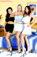 Linsey Dawn McKenzie, Jessica Turner and Kerry Marie strip together