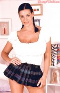 European solo girl Linsey Dawn McKenzie unveiling massive boobs in pigtails