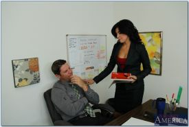 Adorable office lady with tiny tits Danica Dillon gets banged hardcore