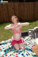 Truly amazing outdoor teen breast fuck with busty Missy Mae