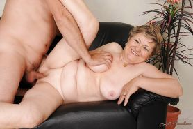 Lustful fatty granny gives a blowjob and gets slammed hardcore #51037448