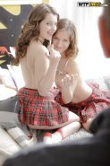 Young schoolgirls Juliya and Parvin take filthy anal sex in threesome