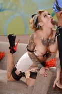 Filthy interracial blowjob and cumshot compliments Kleio Valentien