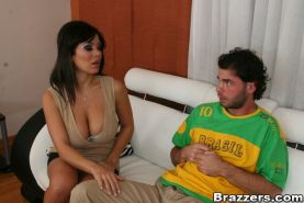 Latina babe with big boobs Sienna West has her cunt hardcore fucked