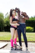 Hardcore interracial fuck of two young guys outdoor feat. Tiffany Doll