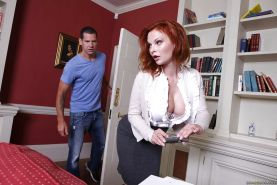 Redhead bombshell Tarra White enjoys passionate anal drilling ouutdoor