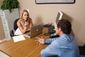 Office secretary blonde Carter Cruise is getting drilled very hard