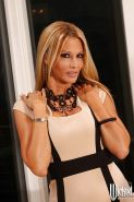 Ravishing MILF Jessica Drake gets rid of her dress and lingerie