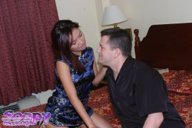 Sensuous asian chick gives a soapy massage and a proper handjob